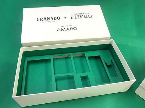 Caixa rígida para mostruário Amaro e Granado