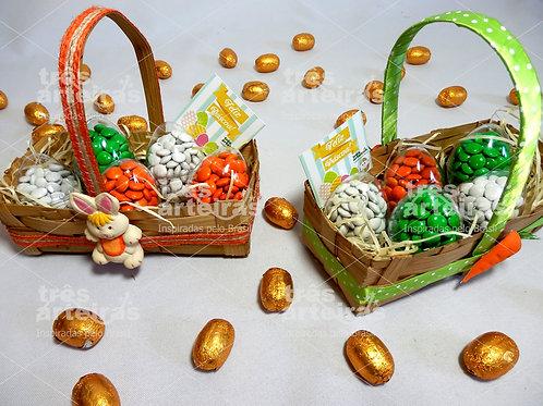 Cestinha com Ovos de Chocolate