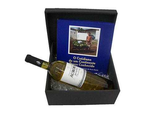 Caixa em Madeira para Livro e Bebida