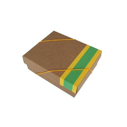 Caixa Kraft Verde e Amarela