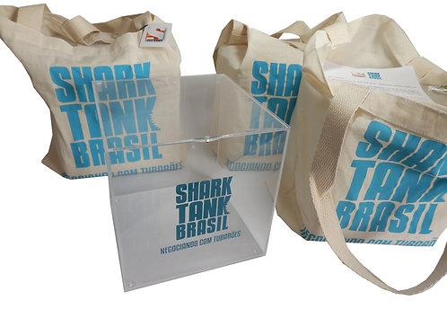 Caixa Acrílica com Ecobag Shark Tank