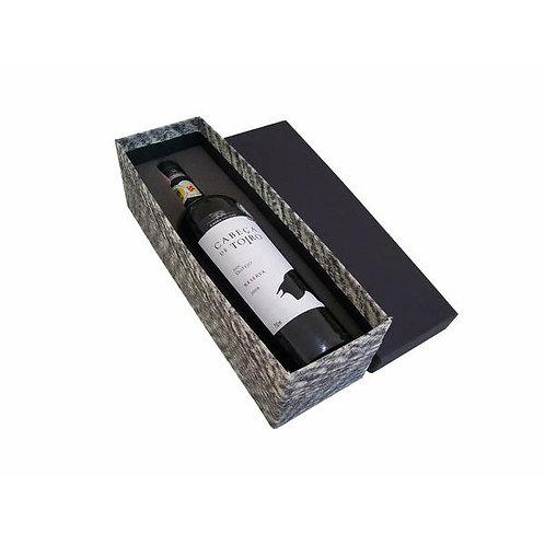 Caixa para Vinho Revestida com Tecido Sustentável