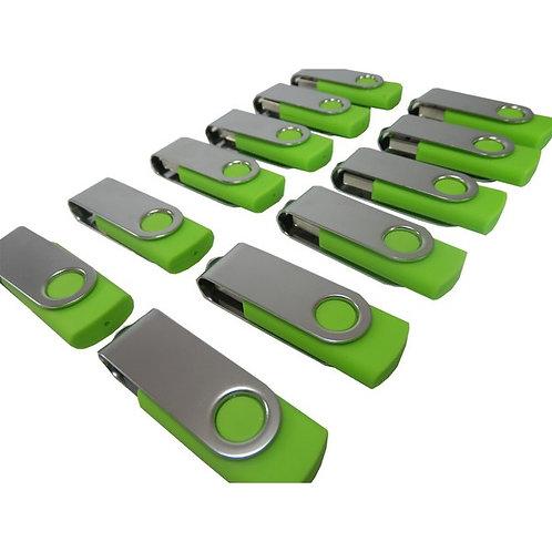 Pen Drive Verde Giratório