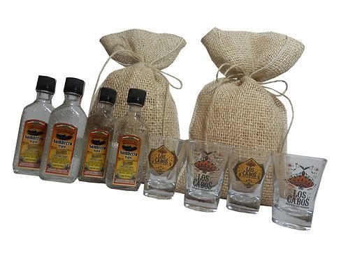 Kit Tequila em Saco de Juta