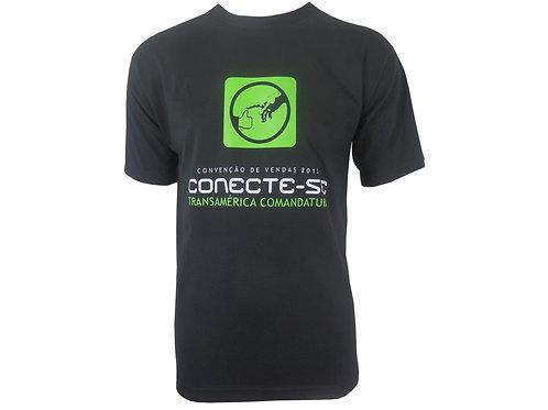 Camiseta Preta em Algodão