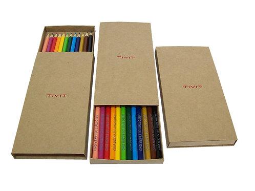 Kit Lápis em Estojo Kraft