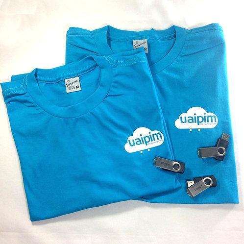 Kit Camiseta e Pendrive Uaipim