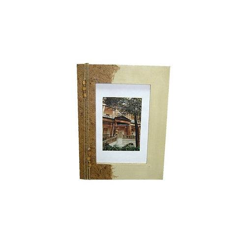 Porta Retrato com Papel Reciclado Artesanal