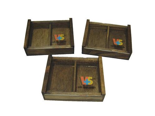 Caixa de Madeira Para Cartão Médico