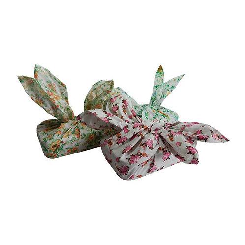 Marmita Embalada com Tecido Floral