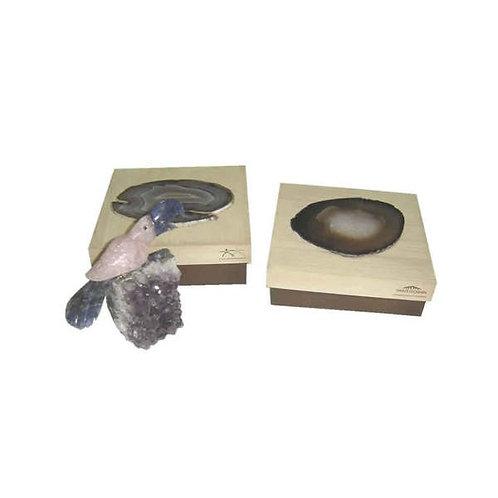 Caixa com Pássaro em Pedra Brasileira