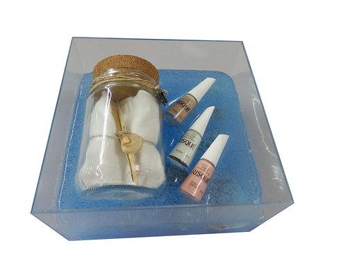 Kit Manicure em Caixa Acrílica
