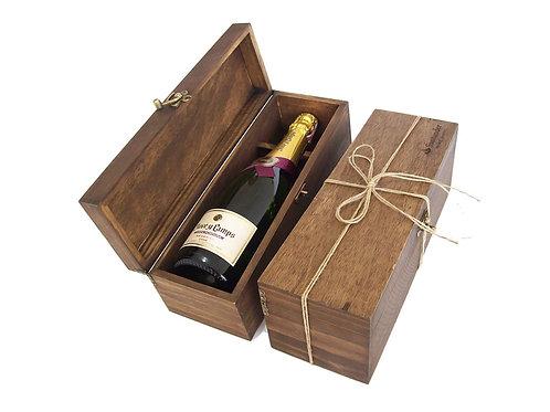 Champagne em Caixa de Madeira de Reflorestamento