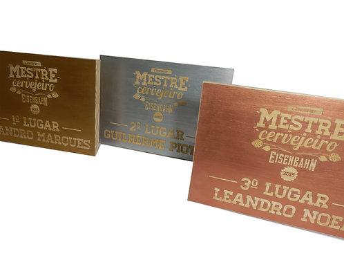 Placa de Premiação Mestre Cervejeiro