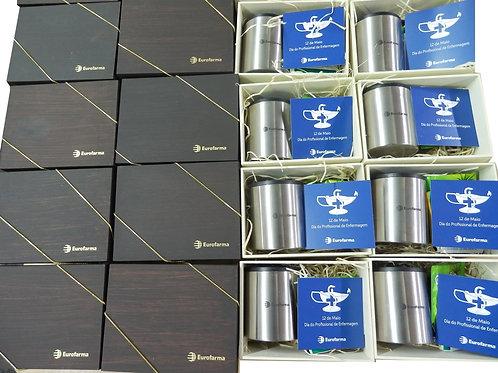 Kit Chá com Caneca de Alumínio