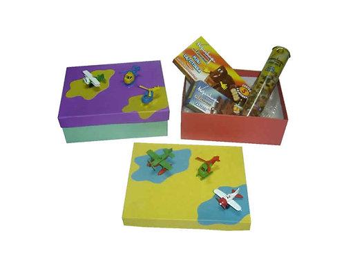 Caixa com Mini Aviões e Chocolates