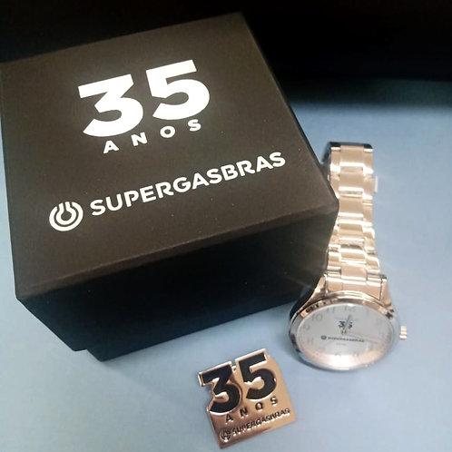 Relógio e Pin Supergrasbrás