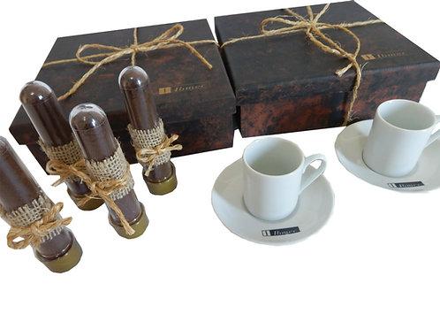 Kit Café com Xícaras de Porcelana