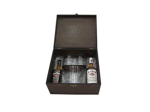 Kit Whisky em Caixa de Madeira