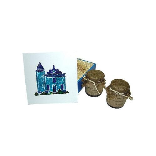 Kit Geleia em Caixa de Madeira de Reflorestamento