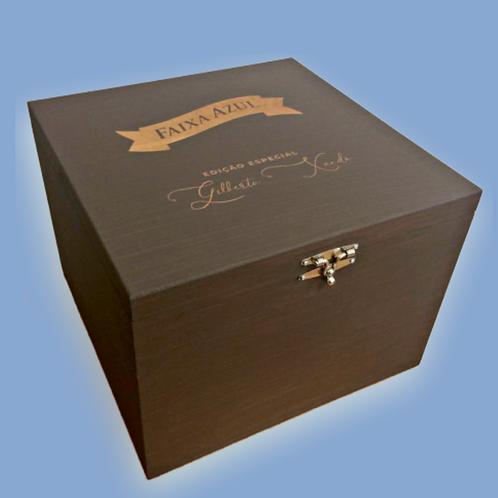 Caixa de Madeira Faixa Azul