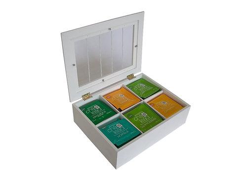 Caixa de Chá com 6 Divisões