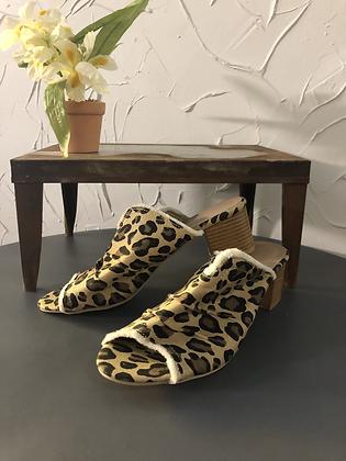 Cheetah Print Slip on Heel