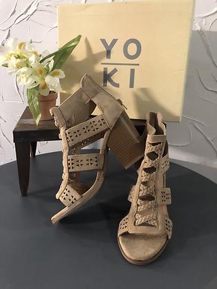 Nude Wedge Heel by YOKI