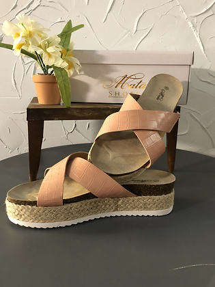 Light Pink Slip On Wedge by Moata