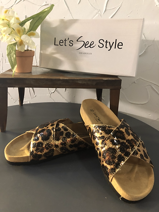 Cheetah Sandal by Let's See Style
