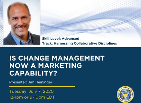 Heininger Speaks on the Intersection of Change Management and Marketing