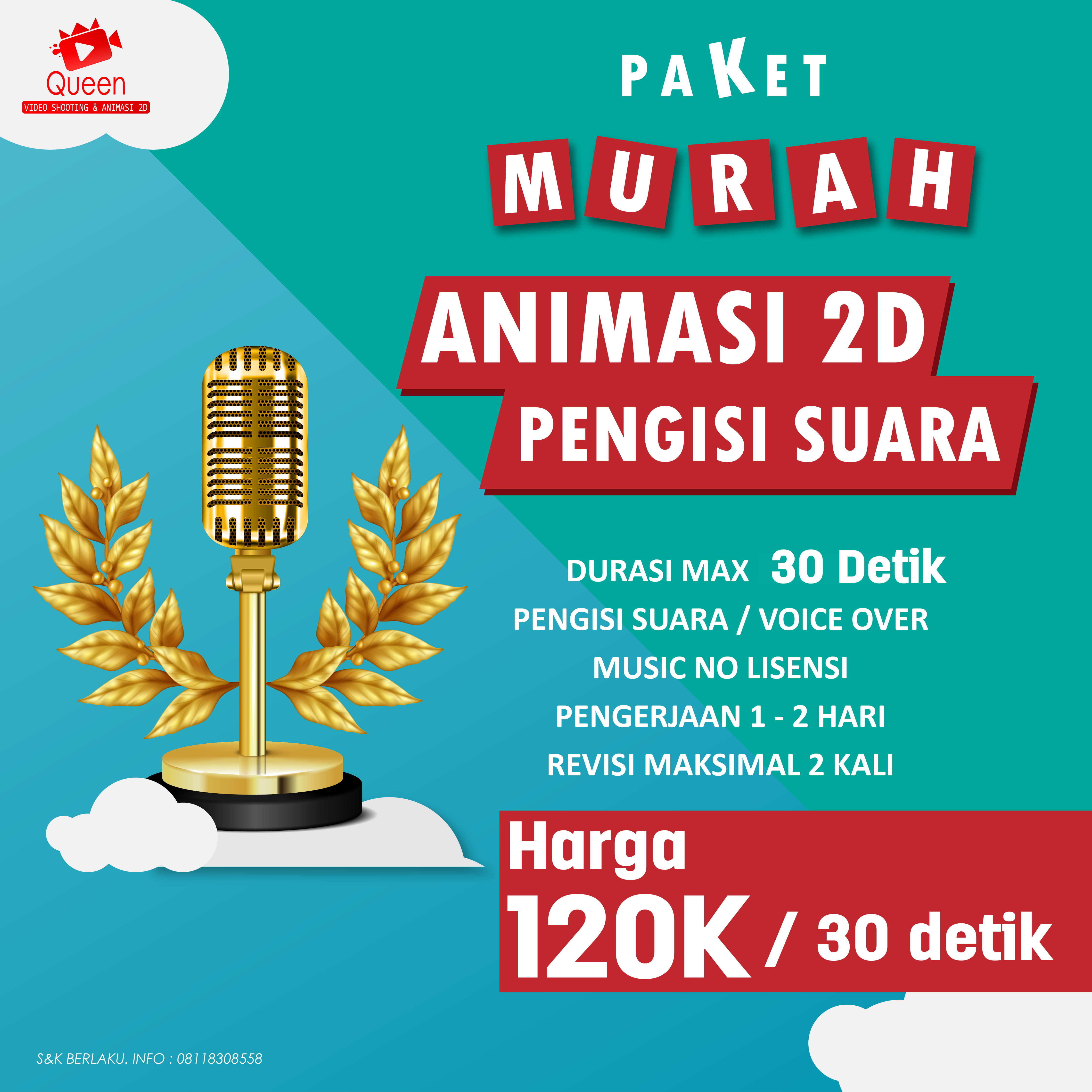 Price List Animasi 2D 120k dengan voice