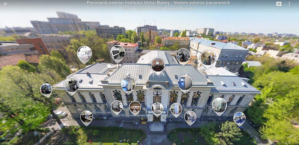 Tur virtual 360 din aer și interior