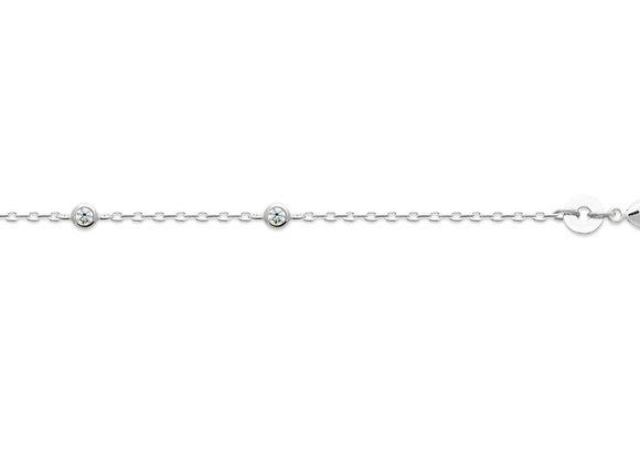 Bracelet Argent 925 Rhodié Oxyde de Zirconium - BRA873446