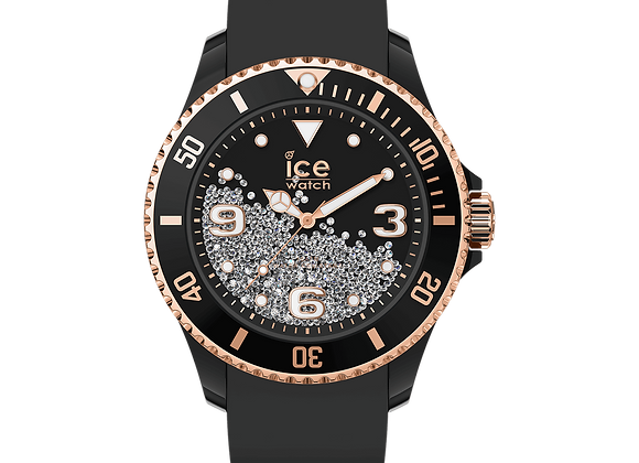 ICE crystal - Black rose-gold 017249