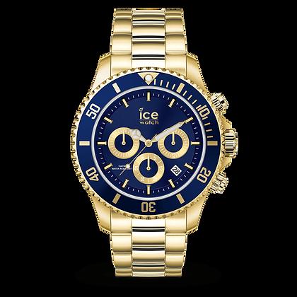 Montre ICE WATCH - ICE STEEL - GOLD BLUE - MEDIUM - 017674