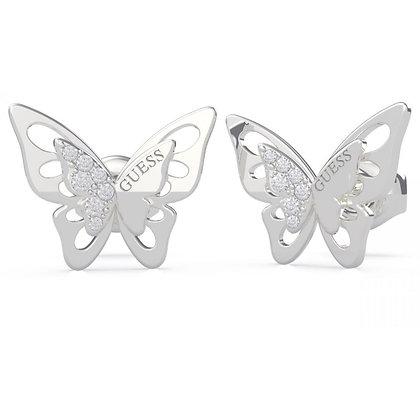 Boucle Oreille Acier Papillon - UBE70184