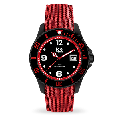 Montre ICE WATCH - ICE STEEL - BLACK RED - LARGE - 015782