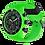 Thumbnail: Montre ICE WATCH Chrono Neon green - Large - 019839