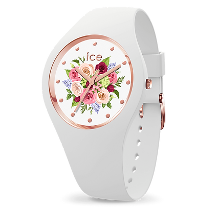 Montre ICE WATCH - ICE FLOWER White Bouquet - Small - 017 575