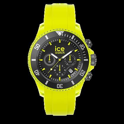 Montre ICE WATCH Chrono Jaune Fluo -  Large - 019838