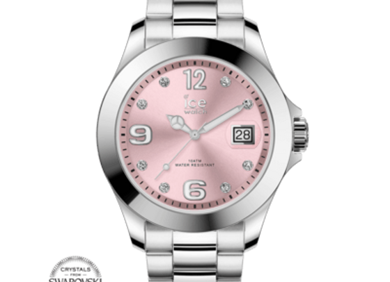Montre ICE WATCH - ICE STEEL CLASSIC - LIGHT PINK  - MEDIUM - 016776