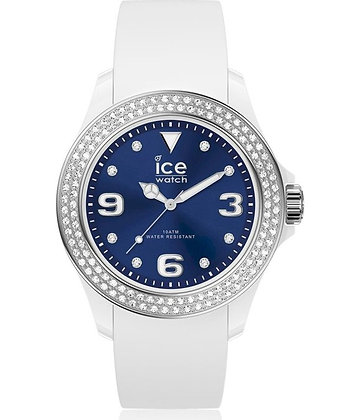 Montre ICE star - White deep blue Smooth Small 017234