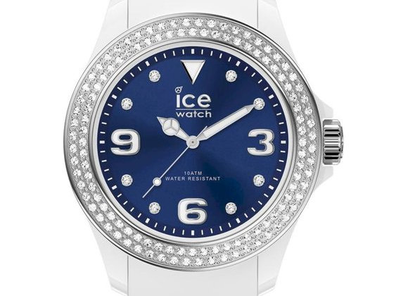 Montre ICE star - White deep blue Smooth Medium 017235