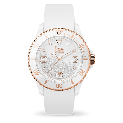 Montre ICE crystal - White rose-gold  017248