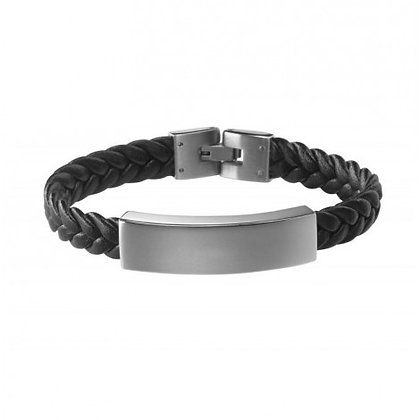 Bracelet Cuir Acier - BRAC19082419