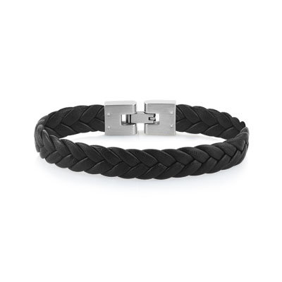Bracelet Cuir Acier - BRAC19082621