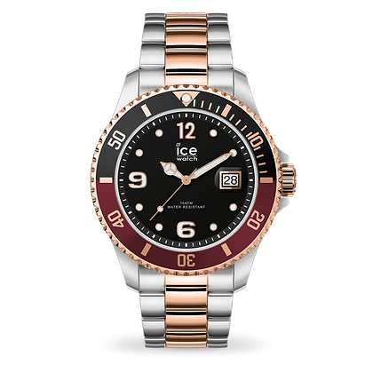 Montre ICE WATCH - ICE STEEL - CHIC SILVER - ROSE GOLD - LARGE - 016548