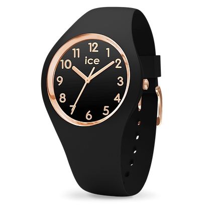 Montre ICE WATCH - ICE GLAM - BLACK ROSE-GOLD - NUMBERS - MEDIUM - 001055
