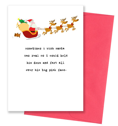 Big pink face - Holiday Card
